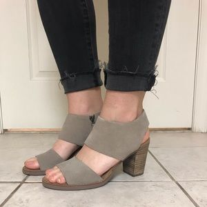 TOMS Majorca sandal in desert taupe suede